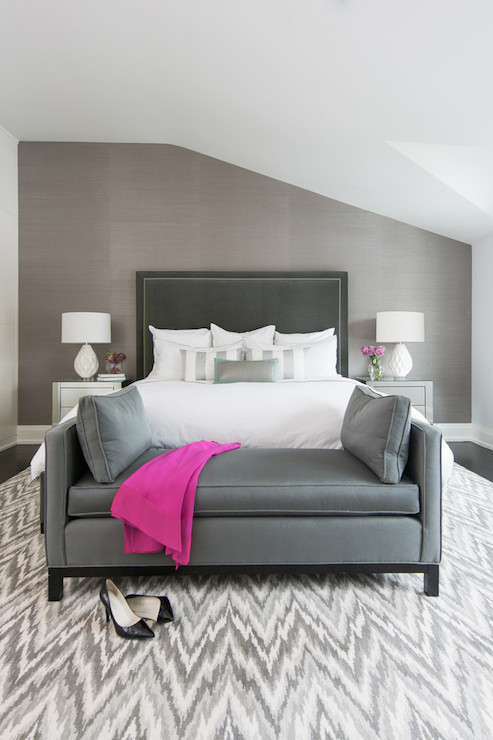 Grey Bedrooms Contemporary bedroom Stephani Buchman