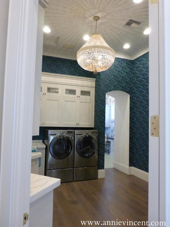 Laundry Room Chandeliers Transitional Laundry Room