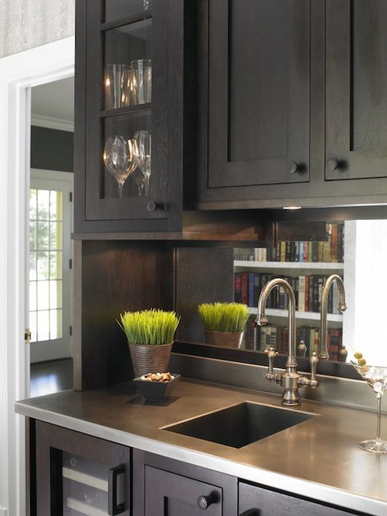 Wet Bar Sink Transitional Kitchen Christine Donner Kitchens