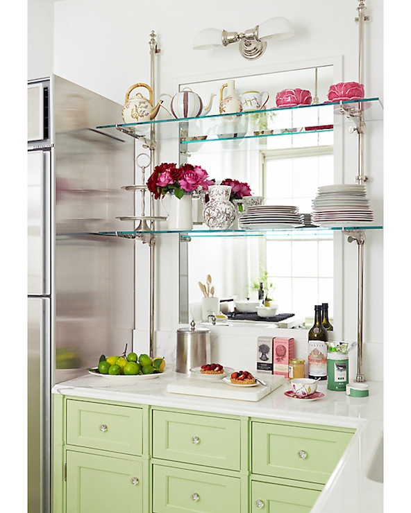 Charmant Glass Kitchen Shelves