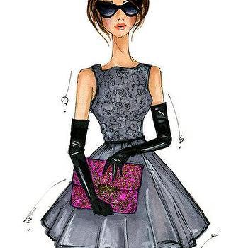 Fashion Illustration Print Modern Holly by anumt I Etsy