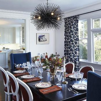 Urchin Chandelier, Transitional, dining room, Lauren Ranes