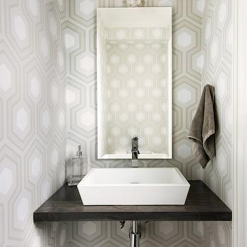 Tan And Orange Chinoiserie Powder Rooms Design Ideas