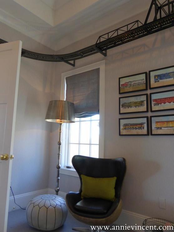 Ceiling Train Transitional Boy S Room Caitlin Wilson