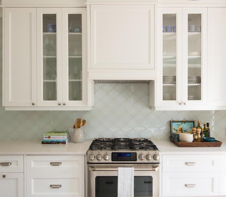 Arabesque Tiles Kitchen Wall: Aqua Arabesque Tiles