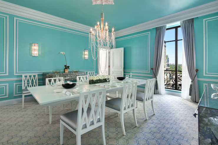 Exceptional Tiffany Blue Dining Room