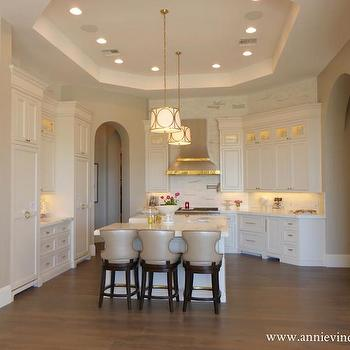 Octagon Tray Ceiling, Transitional, kitchen, Caitlin Wilson Design