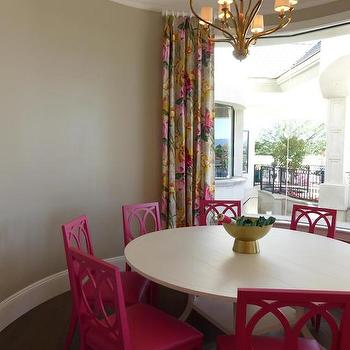 pink dining room ceiling design ideas
