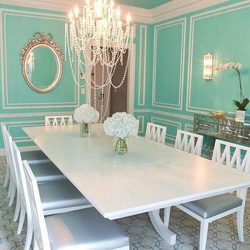 Tiffany Blue Walls, Transitional, dining room, The St Regis New York