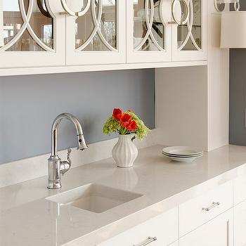 Silestone Lagoon Countertops Transitional Kitchen