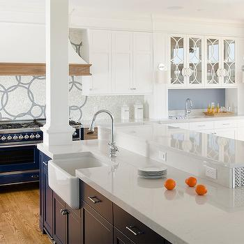 Silestone Lagoon Countertops, Transitional, kitchen, Benjamin Moore New Hope Gray, Kitchen Cove Cabinetry and Design