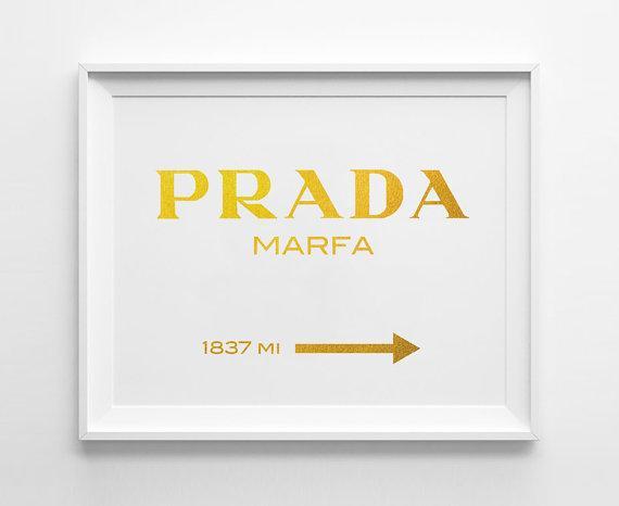 Gold Prada Logo Wall Art