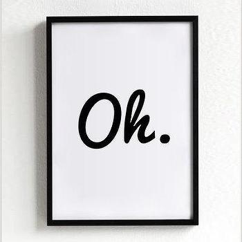 oh print quote poster print Typography Posters Home by sinansaydik I Etsy