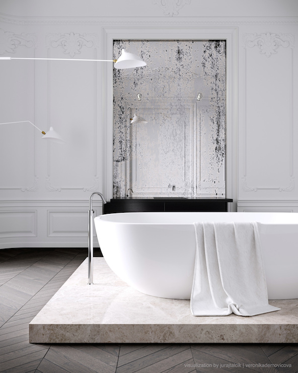 Bathtub Platform Contemporary Bathroom Jessica Vedel