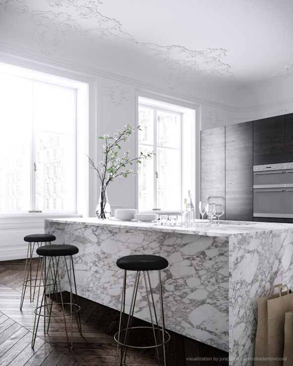 waterfall edge countertop design ideas