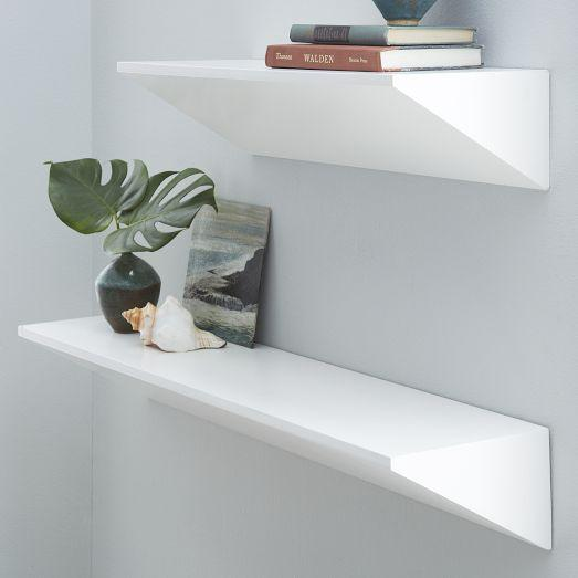 White Wedge Shelf