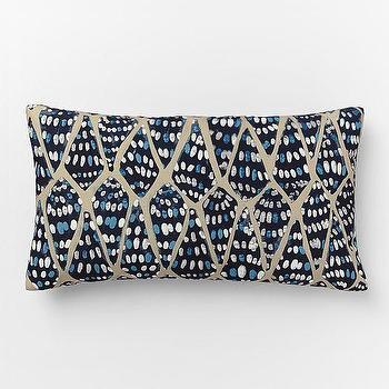 Outdoor Conical Shells Pillow, West Elm