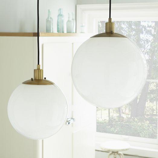White Globe Pendant