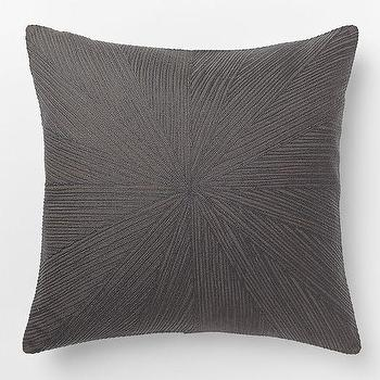 Embroidered Starburst Pillow Cover Slate, West Elm