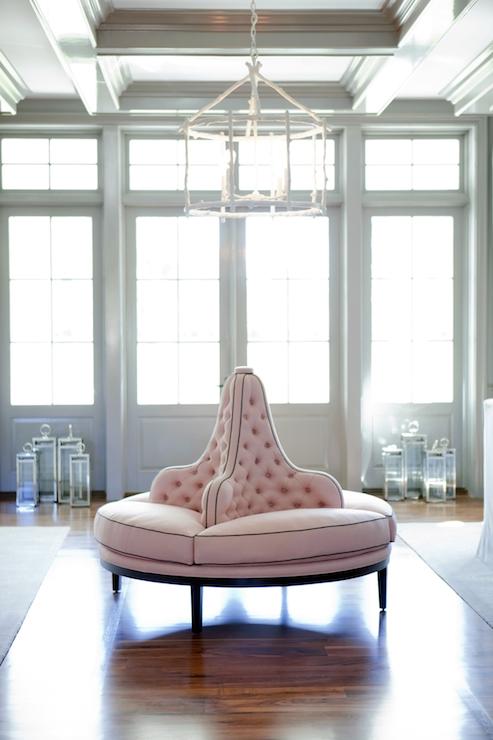 Best Pink Tufted Bench - Transitional - living room - Bravo TV DU74