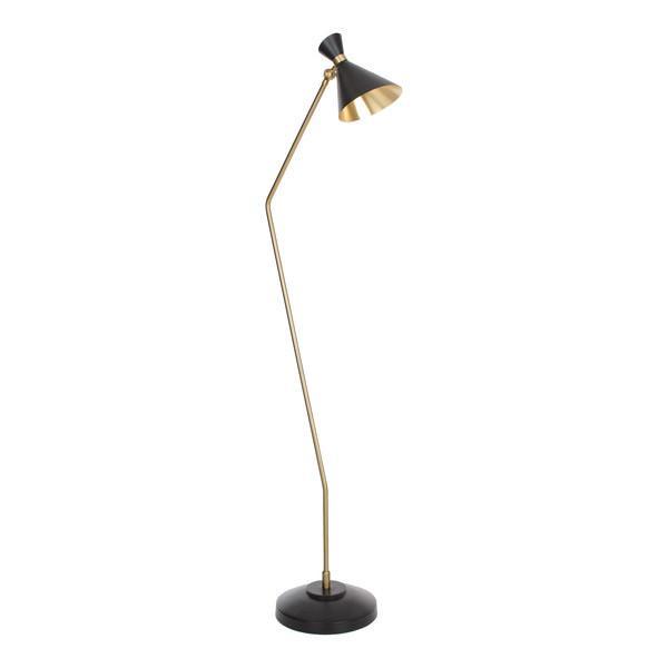 35f4a5f2784 DwellStudio Black and Brass Cone Floor Lamp