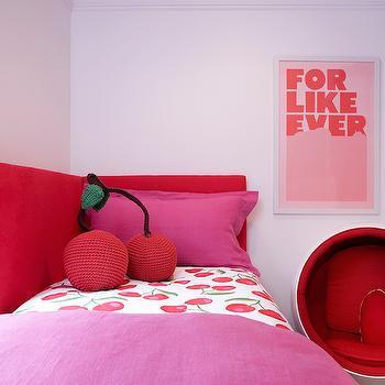 Corner Headboard, Contemporary, girl's room, Leo Designs Chicago