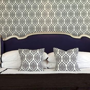 Purple Headboard, Transitional, bedroom, Bravo TV