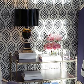 Brass and Glass Nightstand, Transitional, bedroom, Bravo TV