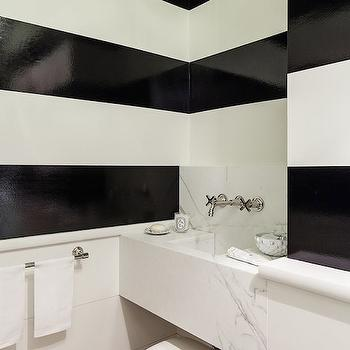 Black and White Bathrooms, Contemporary, bathroom, Chambers and Chambers Architects
