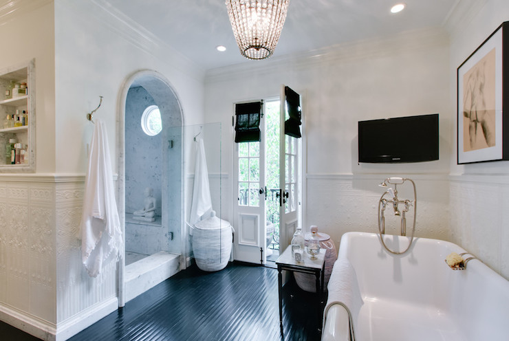 Shower Cave - Transitional - bathroom - Abbott Moon