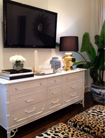 Bamboo dresser transitional bedroom luxe report for Bedroom dresser decor