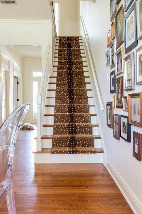 Foyer Stair Runners : Antelope stair runner transitional entrance foyer