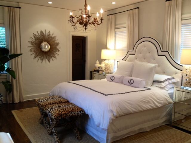 Leopard X Stools Transitional Bedroom Luxe Report