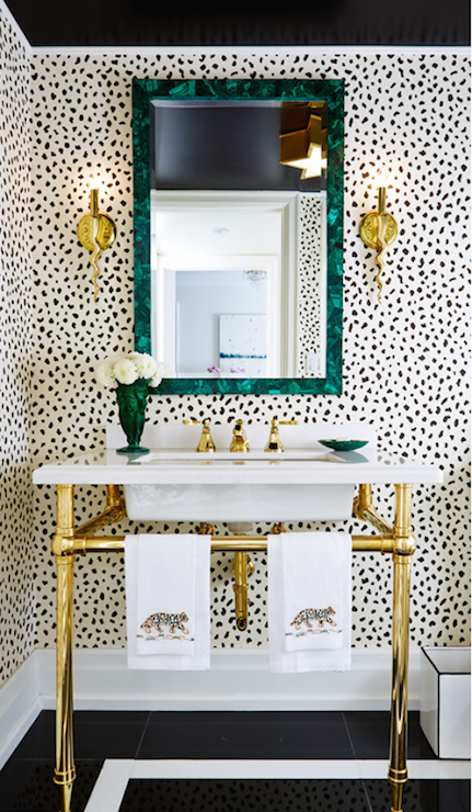 Malachite mirror contemporary bathroom the world for Bathroom goods