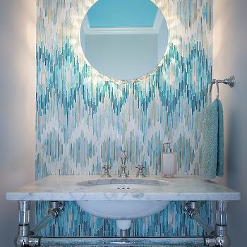 Loom Jewel Glass Mosaic, Contemporary, bathroom, Beckwith Interiors