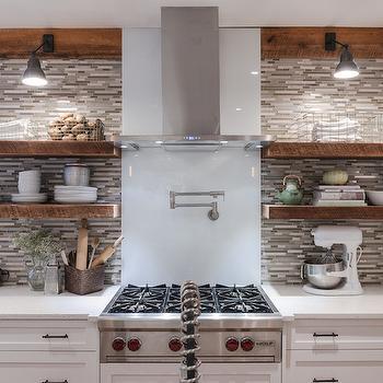 Gray Mosaic Backsplash, Contemporary, kitchen, Beckwith Interiors