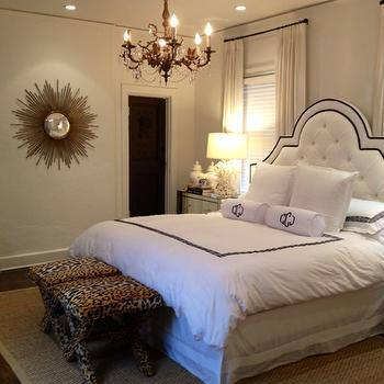 Leopard X Stools, Transitional, bedroom, Luxe Report