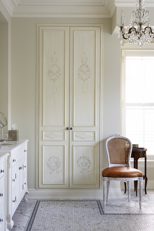 French Linen Cabinet French Bathroom Kimberley Seldon Design Group