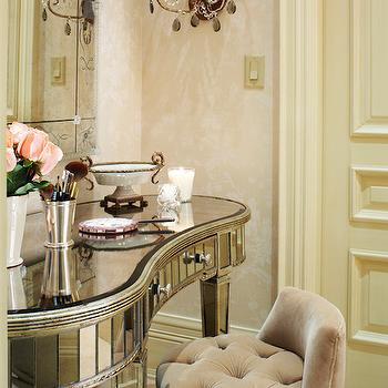Mirrored Dressing Vanity, French, closet, Kimberley Seldon Design Group