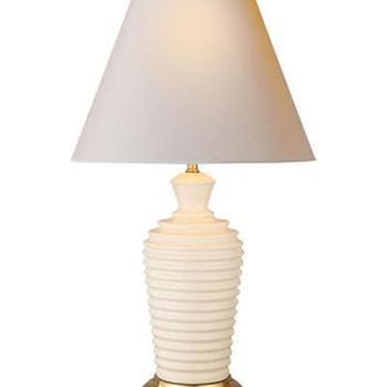 John Table Lamp in Ivory Porcelain I High Street Market