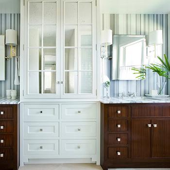 Striped Marble, Transitional, bathroom, Andrew Howard interior Design