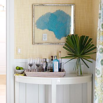 Framed Sea Fan, Cottage, dining room, Andrew Howard interior Design