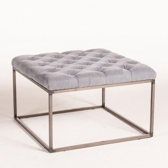Tufted Washed Blue Coffee Table