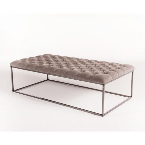 Tufted Large Grey Coffee Table