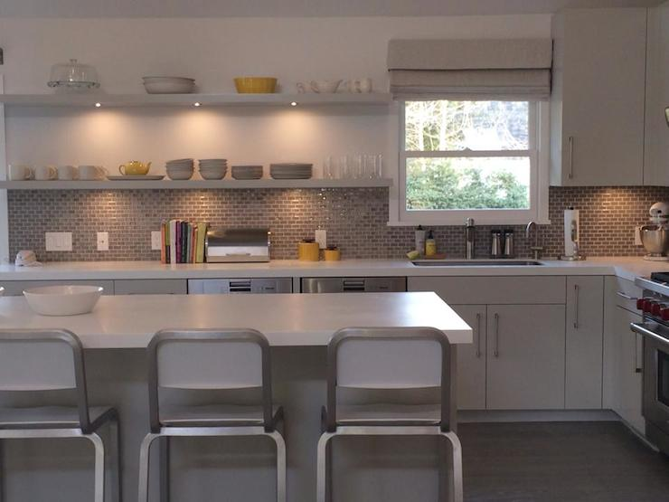 Yellow and gray kitchen contemporary kitchen bella for Yellow and gray kitchen