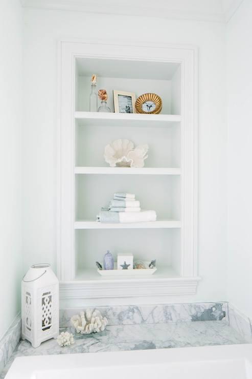 Bathtub Shelves - Transitional - bathroom - Natalie Clayman Interior ...