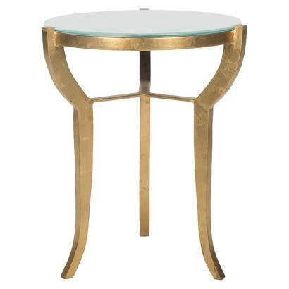 Charming Safavieh Ormond Gold Accent Table
