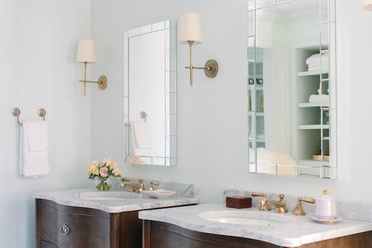 His And Her Vanities Transitional Bathroom Natalie