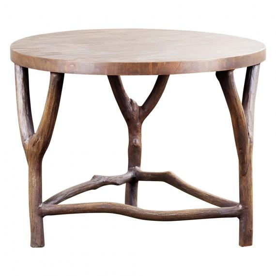 Round metal coffee table for Table 52 oak brook