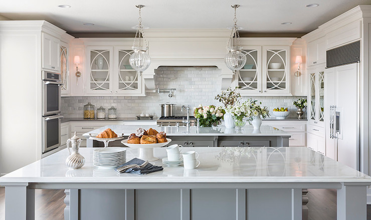 Double Islands Transitional Kitchen Casa Verde Design